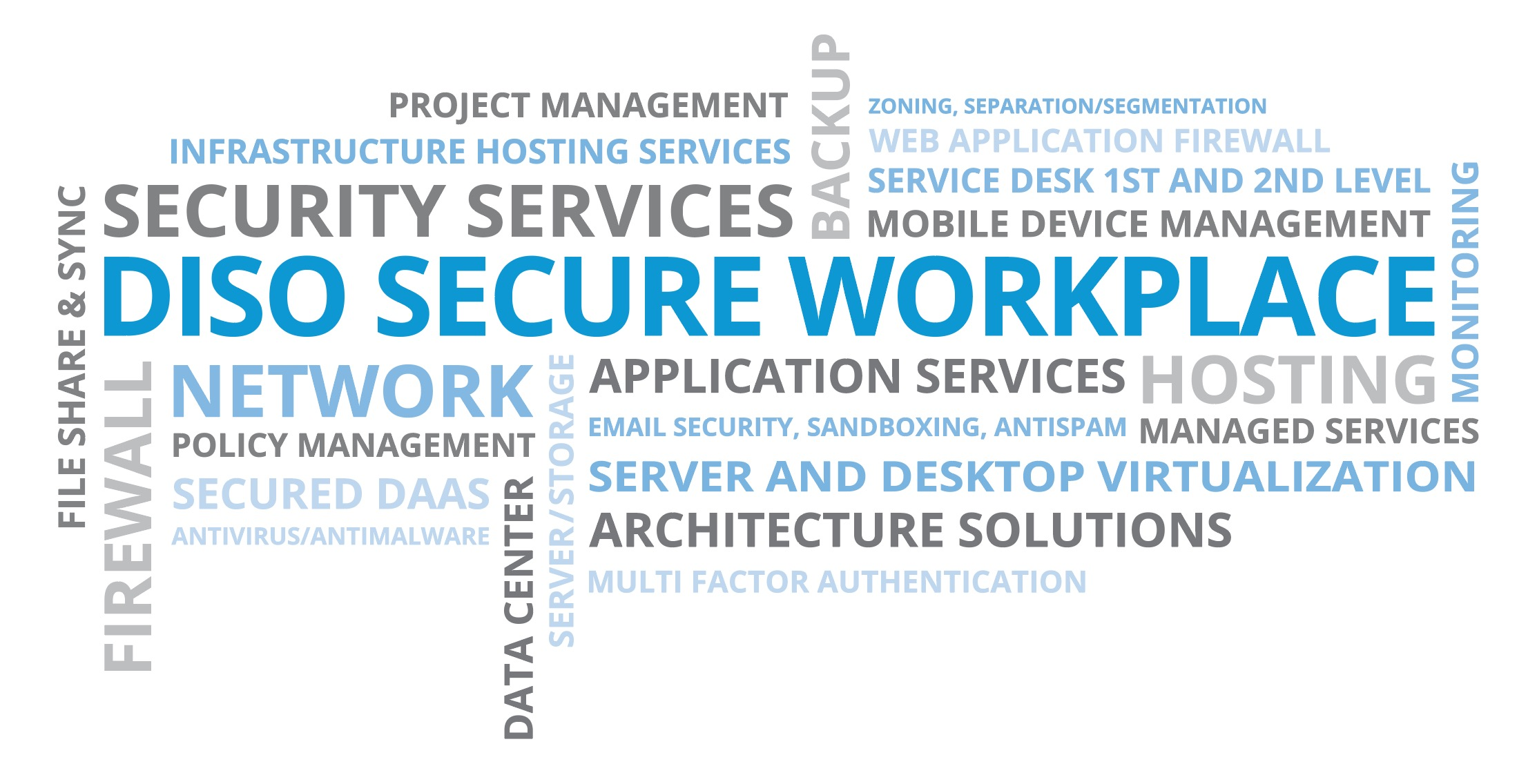 Diso Secure Workplace Word Cloud